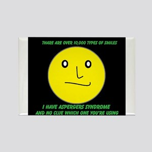 asperger smile Rectangle Magnet