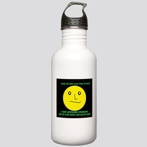 asperger smile Water Bottle
