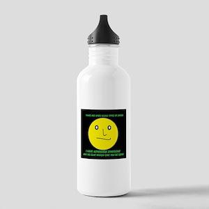 asperger smile Water Bottle