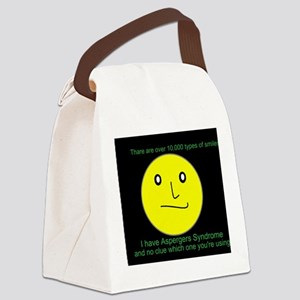 asperger smile Canvas Lunch Bag
