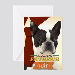 Boston Terrier Father's Day Card