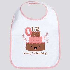 Kawaii Cake 1/2 Birthday Bib