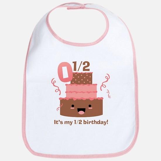 Kawaii Cake 1/2 Birthday Bib
