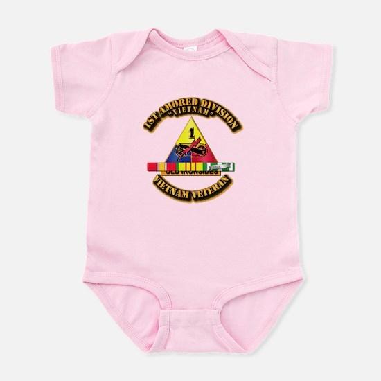 1st Armor Div w SVC Ribbons Infant Bodysuit