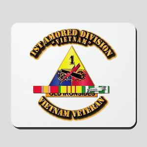 1st Armor Div w SVC Ribbons Mousepad