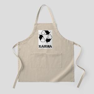 Karma - what goes around comes around funny Apron