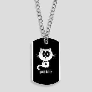 goth kitty Dog Tags