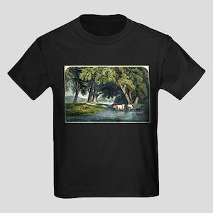 Summer shades - 1859 Kids Dark T-Shirt