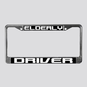 Elderly Driver License Plate Frame