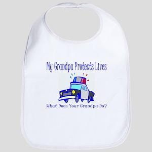 Police Protects Lives-Grandpa Bib