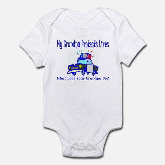 Police Protects Lives-Grandpa Infant Bodysuit