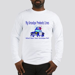Police Protects Lives-Grandpa Long Sleeve T-Shirt