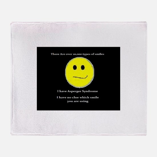 aspie smile Throw Blanket