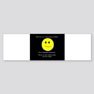 aspie smile Bumper Sticker