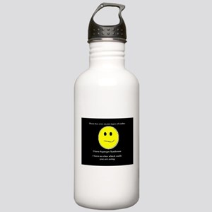 aspie smile Water Bottle