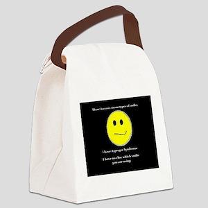 aspie smile Canvas Lunch Bag