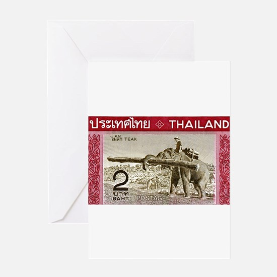 1968 Thailand Working Elephant Postage Stamp Greet
