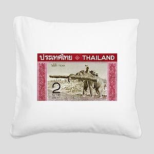 1968 Thailand Working Elephant Postage Stamp Squar