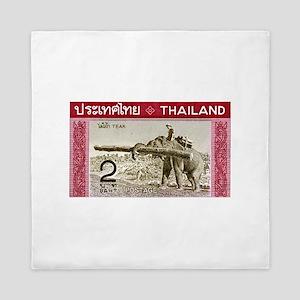 1968 Thailand Working Elephant Postage Stamp Queen