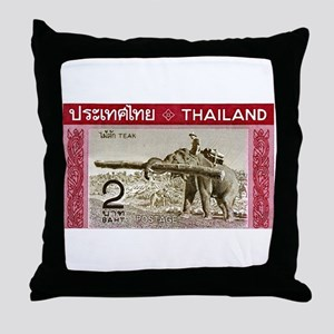 1968 Thailand Working Elephant Postage Stamp Throw
