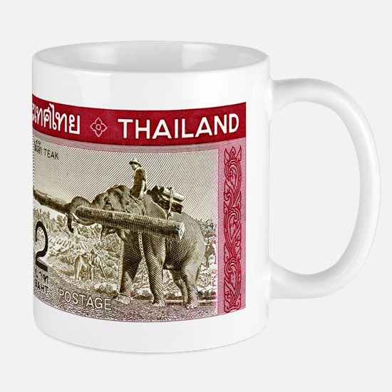1968 Thailand Working Elephant Postage Stamp Mug