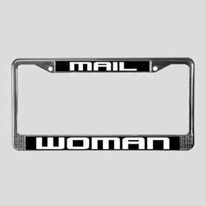 Mail Woman License Plate Frame