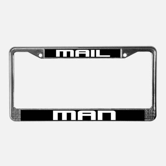 Mail Man License Plate Frame