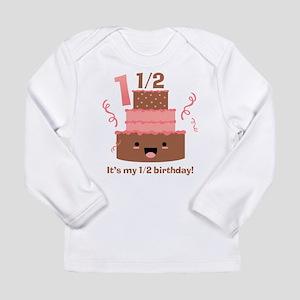 Kawaii Cake 1 1/2 Birthday Long Sleeve Infant T-Sh