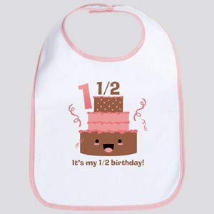 Kawaii Cake 1 1/2 Birthday Bib