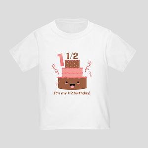 Kawaii Cake 1 1/2 Birthday Toddler T-Shirt