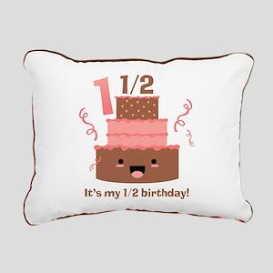 Kawaii Cake 1 1/2 Birthday Rectangular Canvas Pill