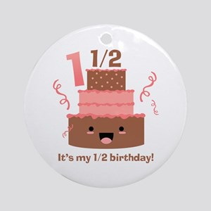 Kawaii Cake 1 1/2 Birthday Ornament (Round)