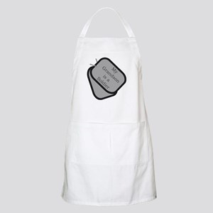 My Grandson is a Soldier dog tag BBQ Apron