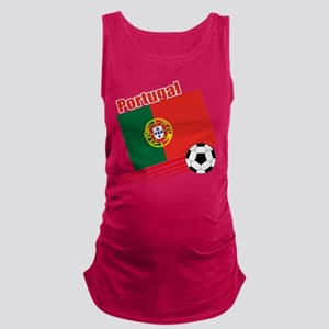 Portugal Soccer Team Maternity Tank Top