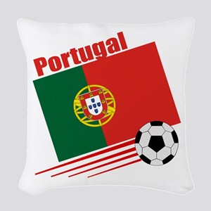 Portugal Soccer Team Woven Throw Pillow