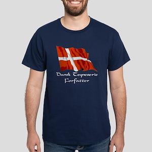Dansk Tegneserie Forfatter Blue T-Shirt