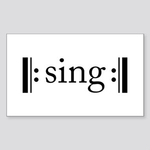 Repeated Sing Rectangle Sticker