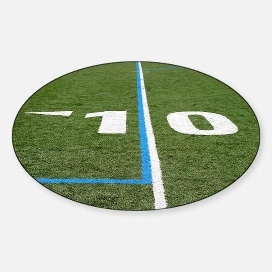 Football Field Ten Sticker (Oval)