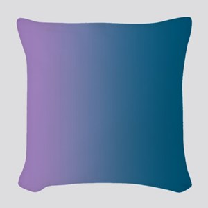 The Violet Blue Tones Woven Throw Pillow