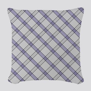 Violet Peppermint Candy Woven Throw Pillow