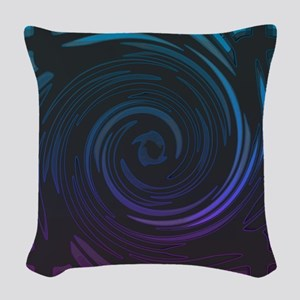 Violet Tides Woven Throw Pillow