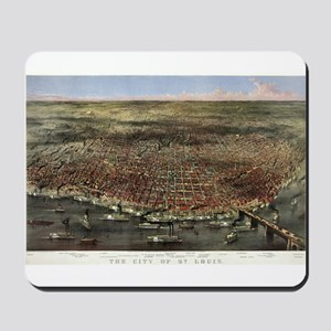 The city of St. Louis - 1874 Mousepad