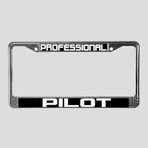 Professional Pilot License Plate Frame