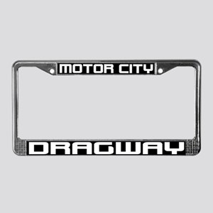 Motor City Dragway License Plate Frame