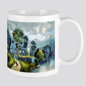 The cottage by the cliff - 1907 11 oz Ceramic Mug