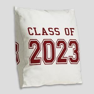 Class of 2023 Burlap Throw Pillow