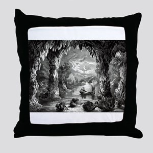 The Enchanted cave - 1867 Throw Pillow