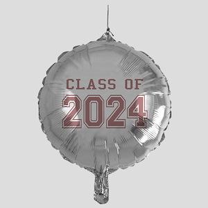 Class of 2024 (Red) Mylar Balloon