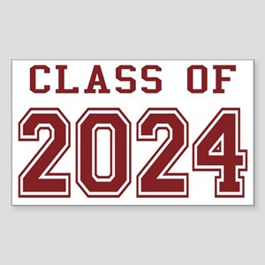 Class of 2024 (Red) Sticker (Rectangle)