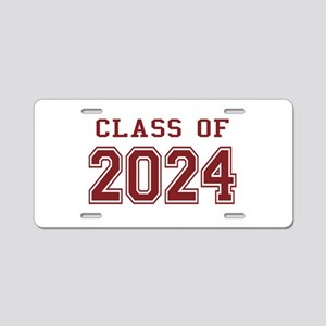 Class of 2024 (Red) Aluminum License Plate